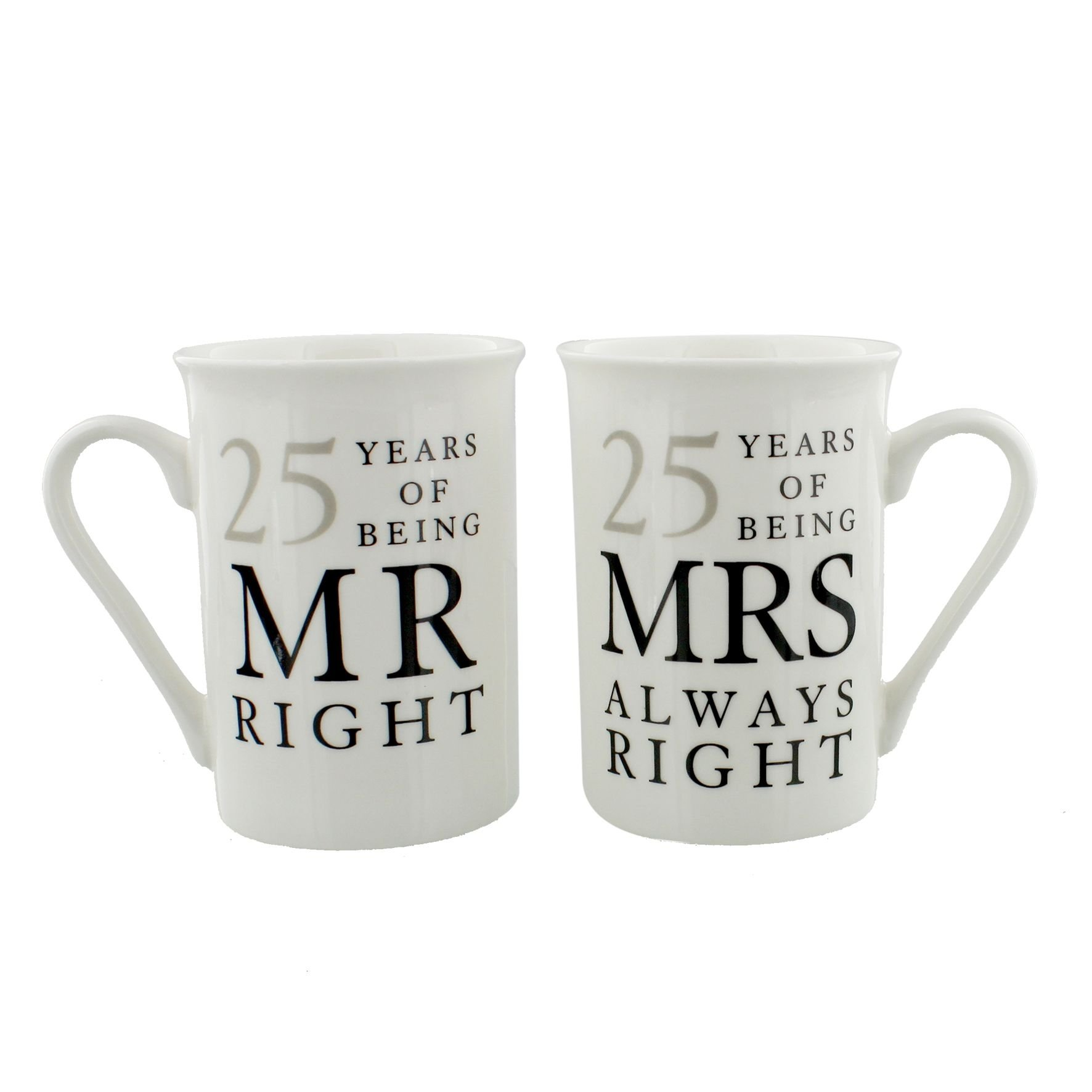 10 Stunning 25Th Wedding Anniversary Gift Ideas For Couples 25th silver wedding anniversary mr mrs mug gift set 25 years of 2021