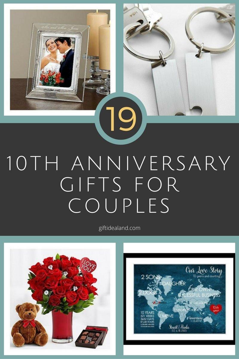 10 Fantastic Gift Ideas For Wedding Anniversary 26 great 10th wedding anniversary gifts for couples 10th wedding 42 2020