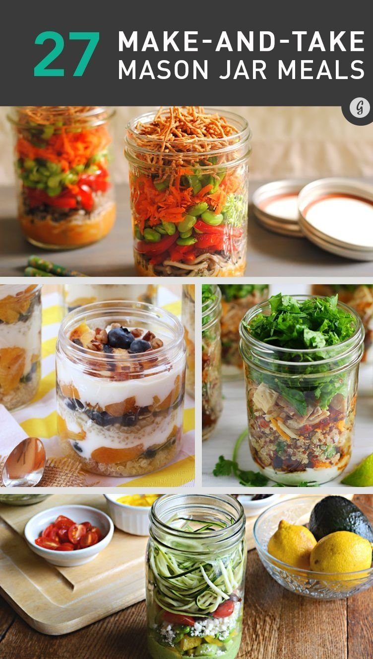 10 Ideal Healthy Packed Lunch Ideas For Work 26 healthy and portable mason jar meals mason jar recipes jar and