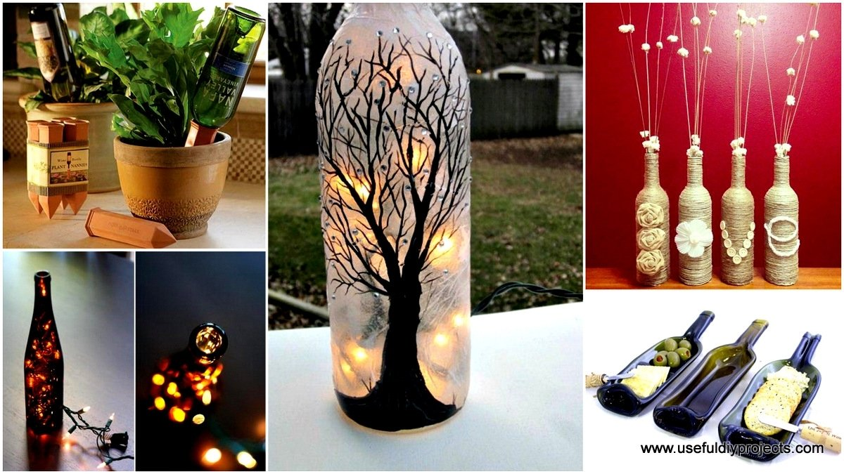 10 Most Popular Craft Ideas For Wine Bottles 26 highly creative wine bottle diy projects to pursue 2020