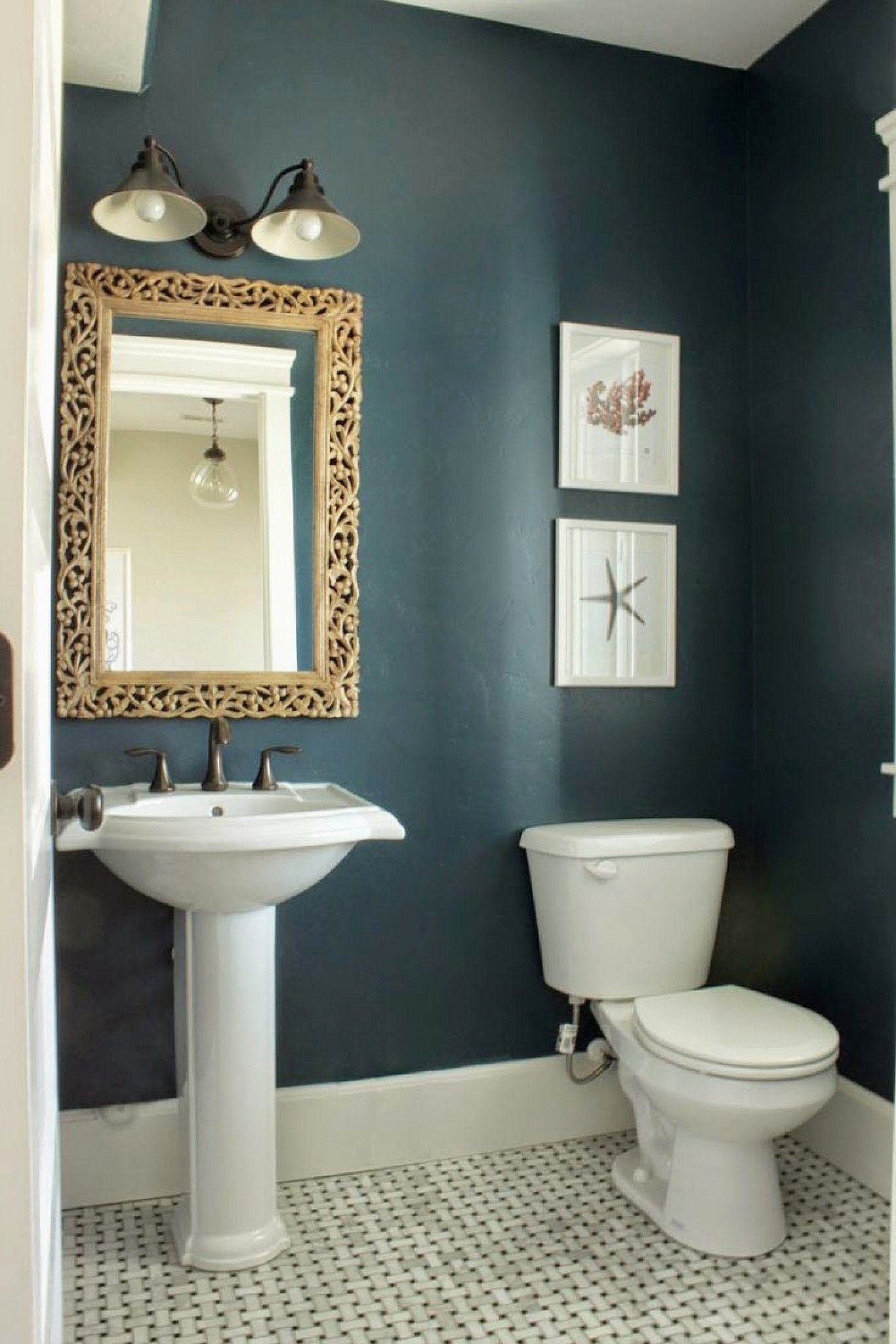 10 Pretty Paint Ideas For Small Bathrooms 26 luxury dark paint in small bathroom jose style and design 2021