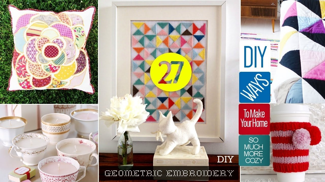 10 Nice Cute Arts And Crafts Ideas 27 cute diy home decor crafts youtube