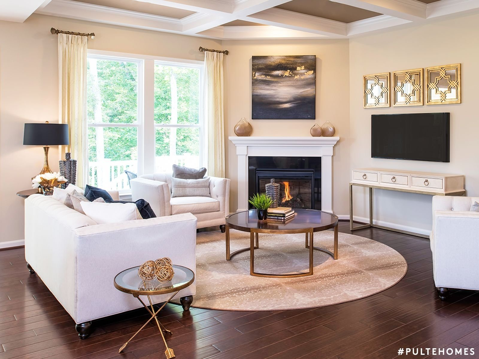 10 Elegant Living Room Ideas With Fireplace 27 stunning fireplace tile ideas for your home round rugs modern 1 2021