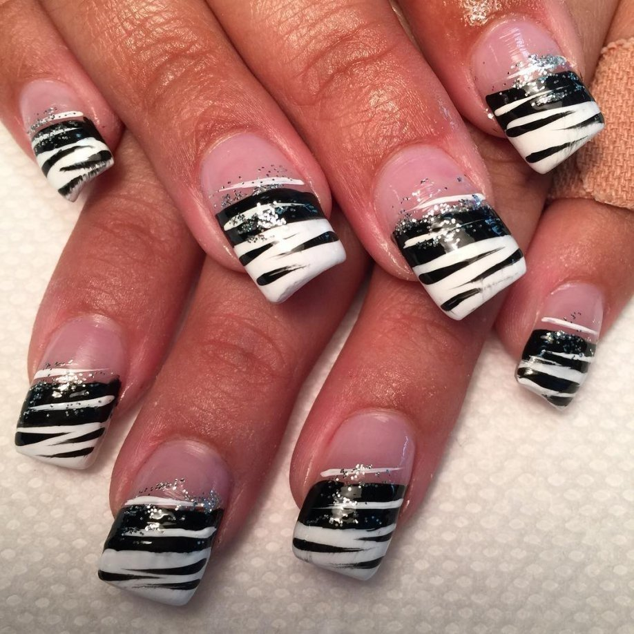 27+ white and black nail art designs, ideas | design trends inside