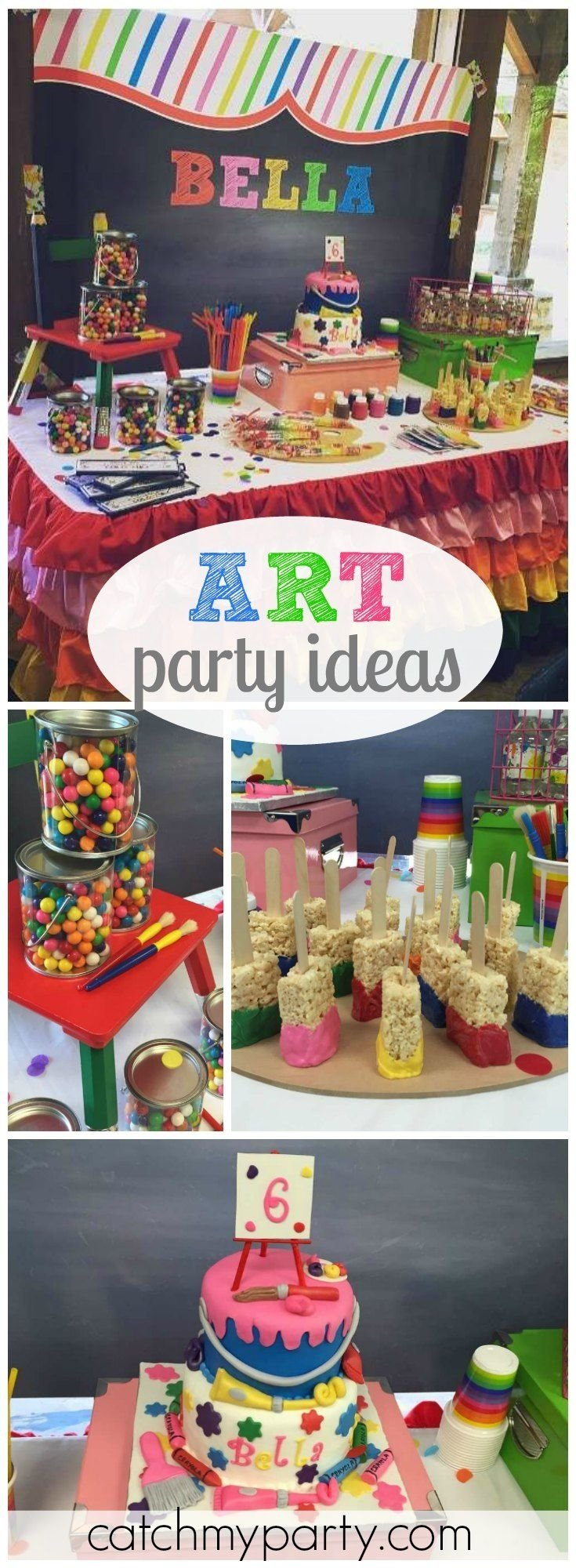272 best art party ideas images on pinterest | birthday party ideas