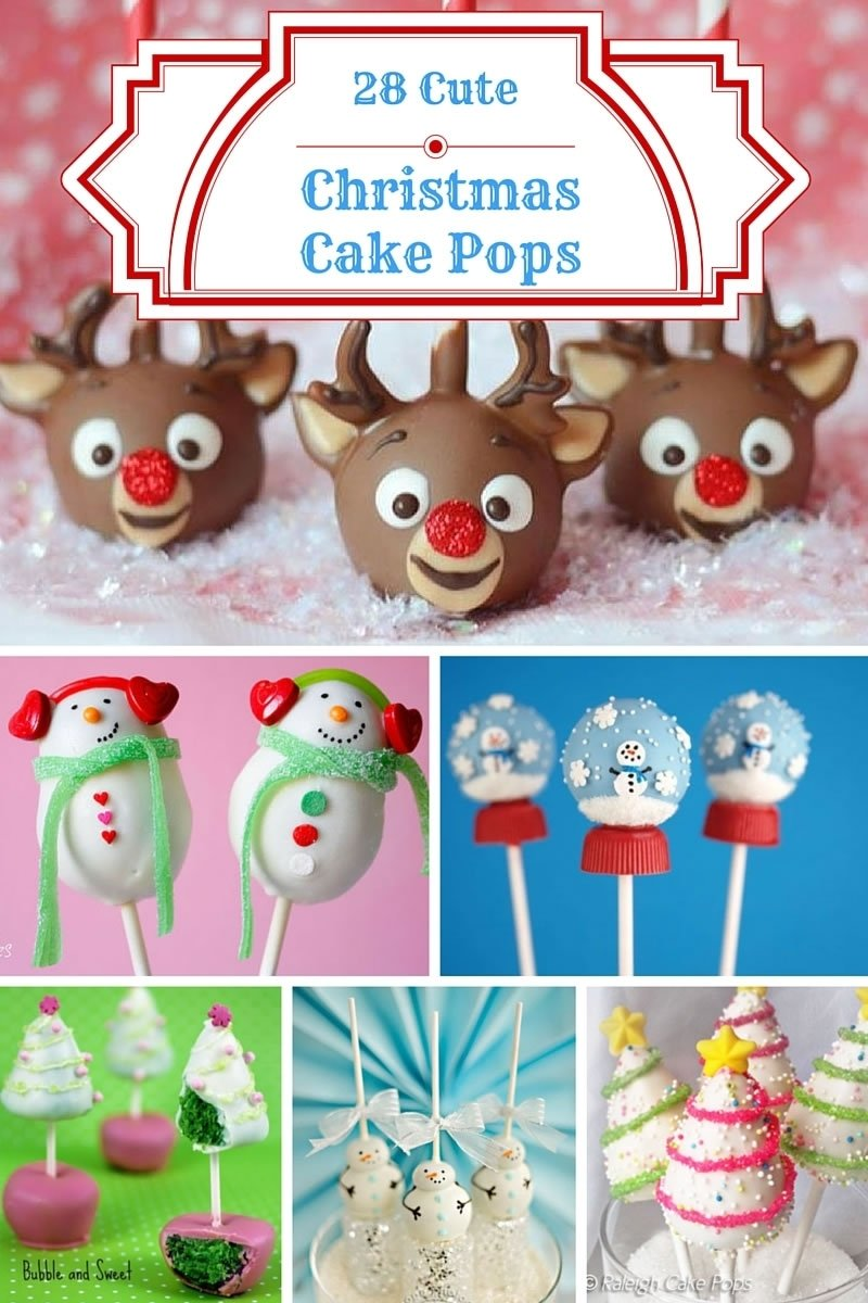 28 cute christmas cake pops ideas - christmas baking ideas