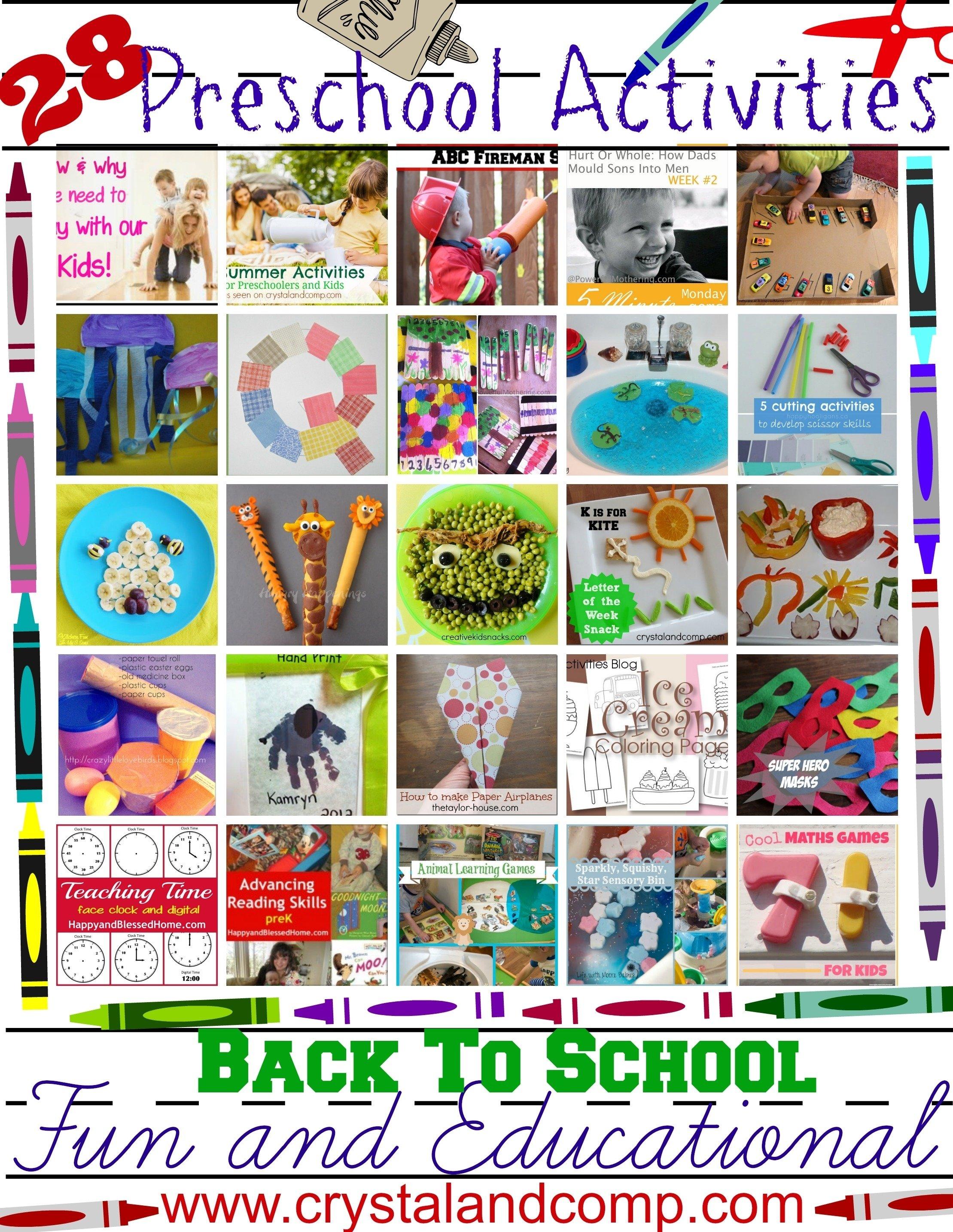 10 Attractive Preschool Back To School Ideas 28 fun and educational preschool activities for back to school 2020