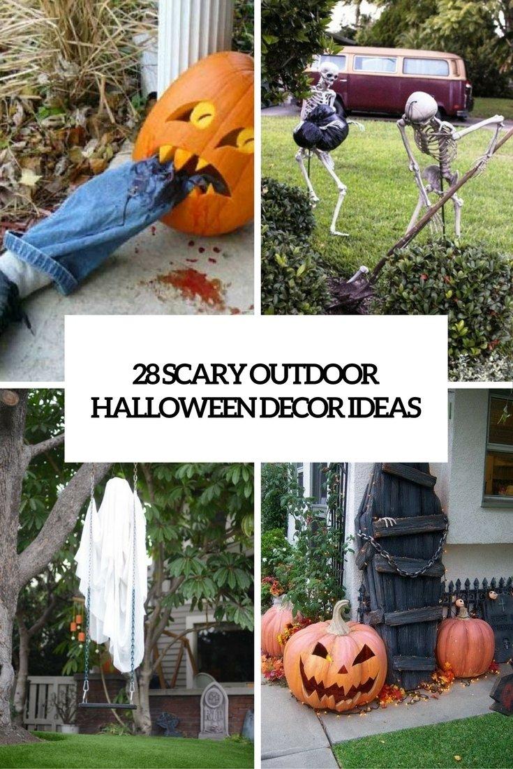 10 Nice Halloween Decoration Ideas For Yard 28 scary outdoor halloween decor ideas shelterness 2020