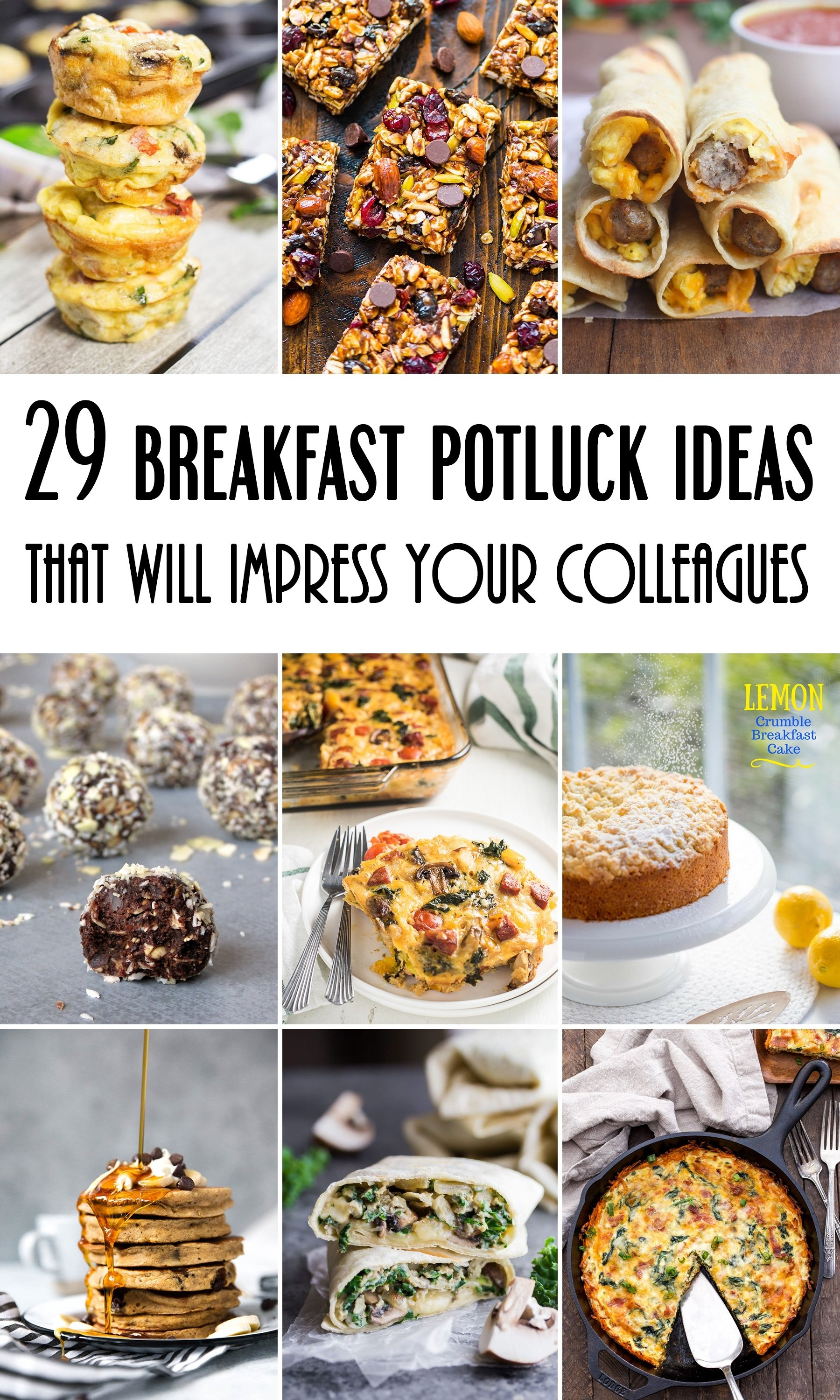 10 Cute Easy Breakfast Ideas For Work 29 breakfast potluck ideas for work that will impress your colleagues 9 2020
