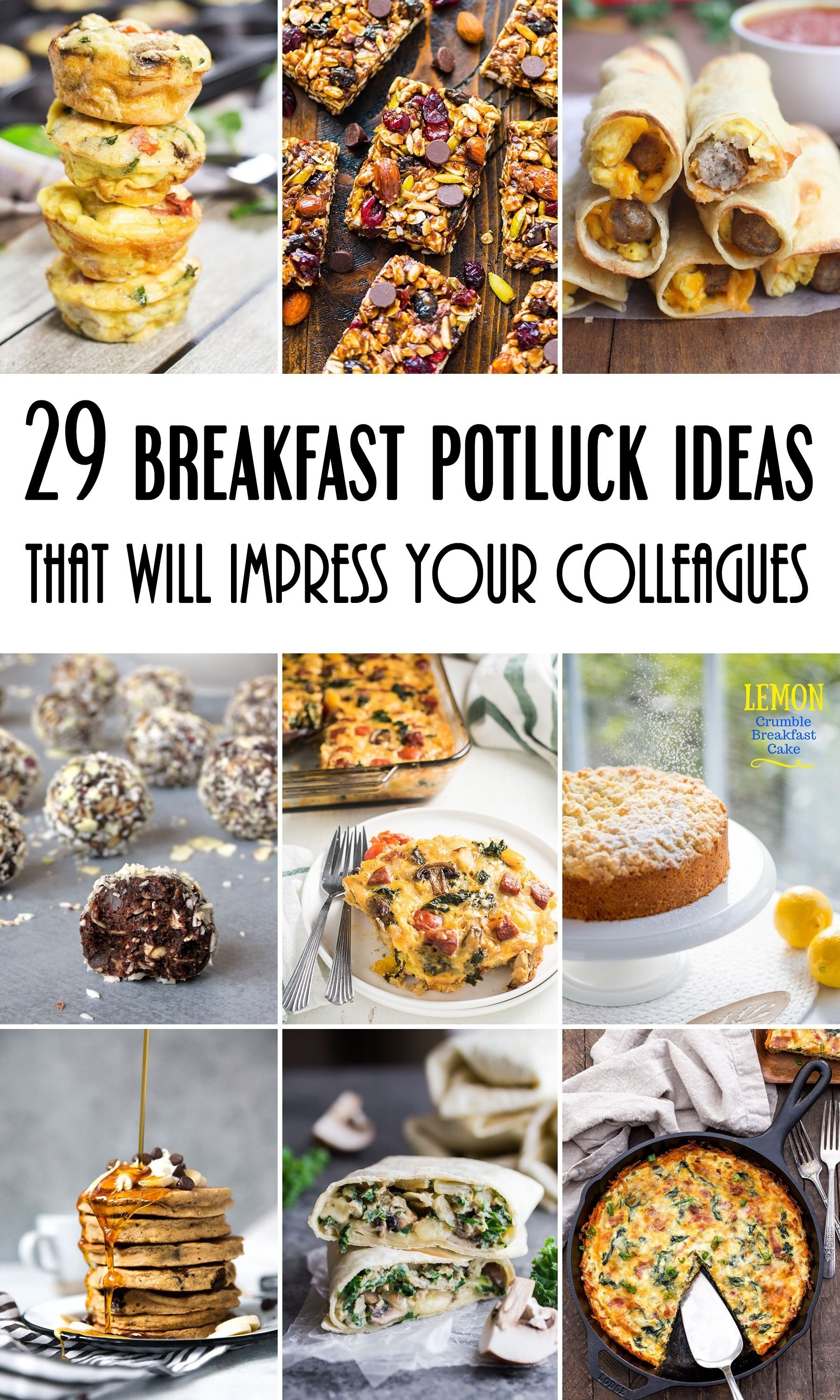29 breakfast potluck ideas for work that will impress your