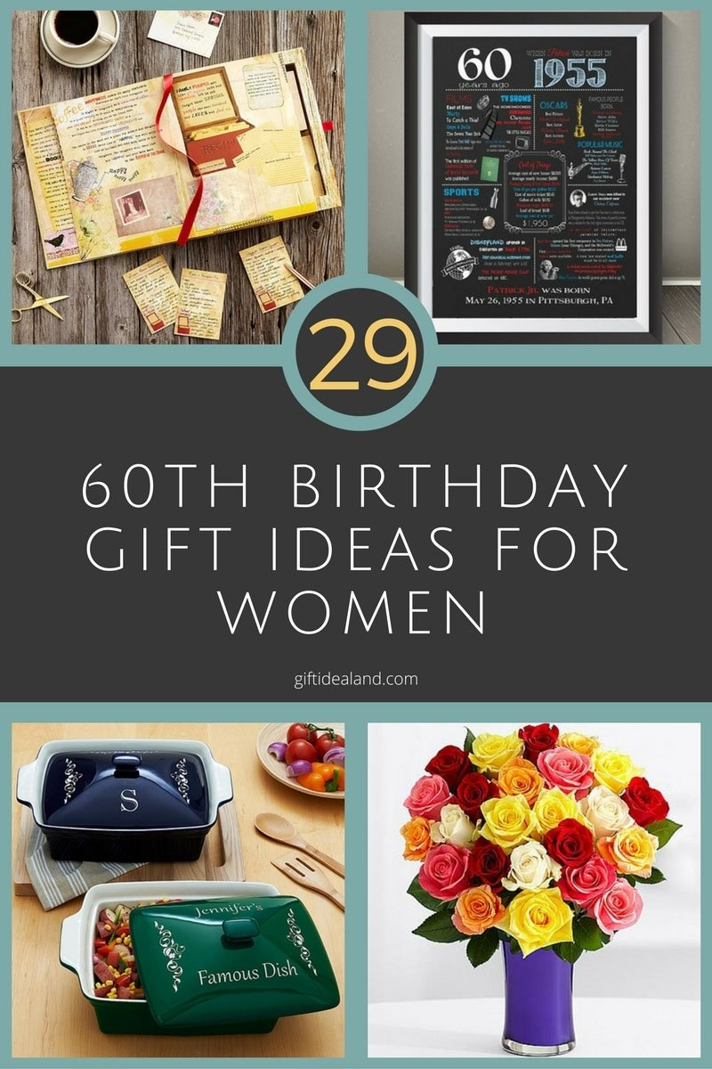 29 great 60th birthday gift ideas for her | womens sixtieth