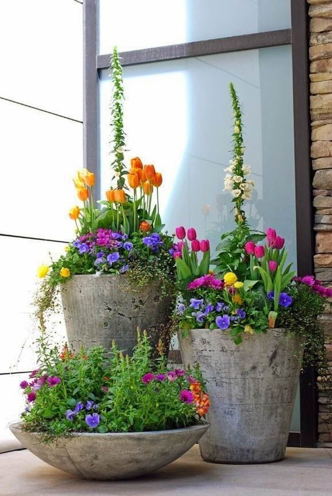 10 Awesome Planter Ideas For Front Porch 29 pretty front door flower pots that will add personality to your 2021