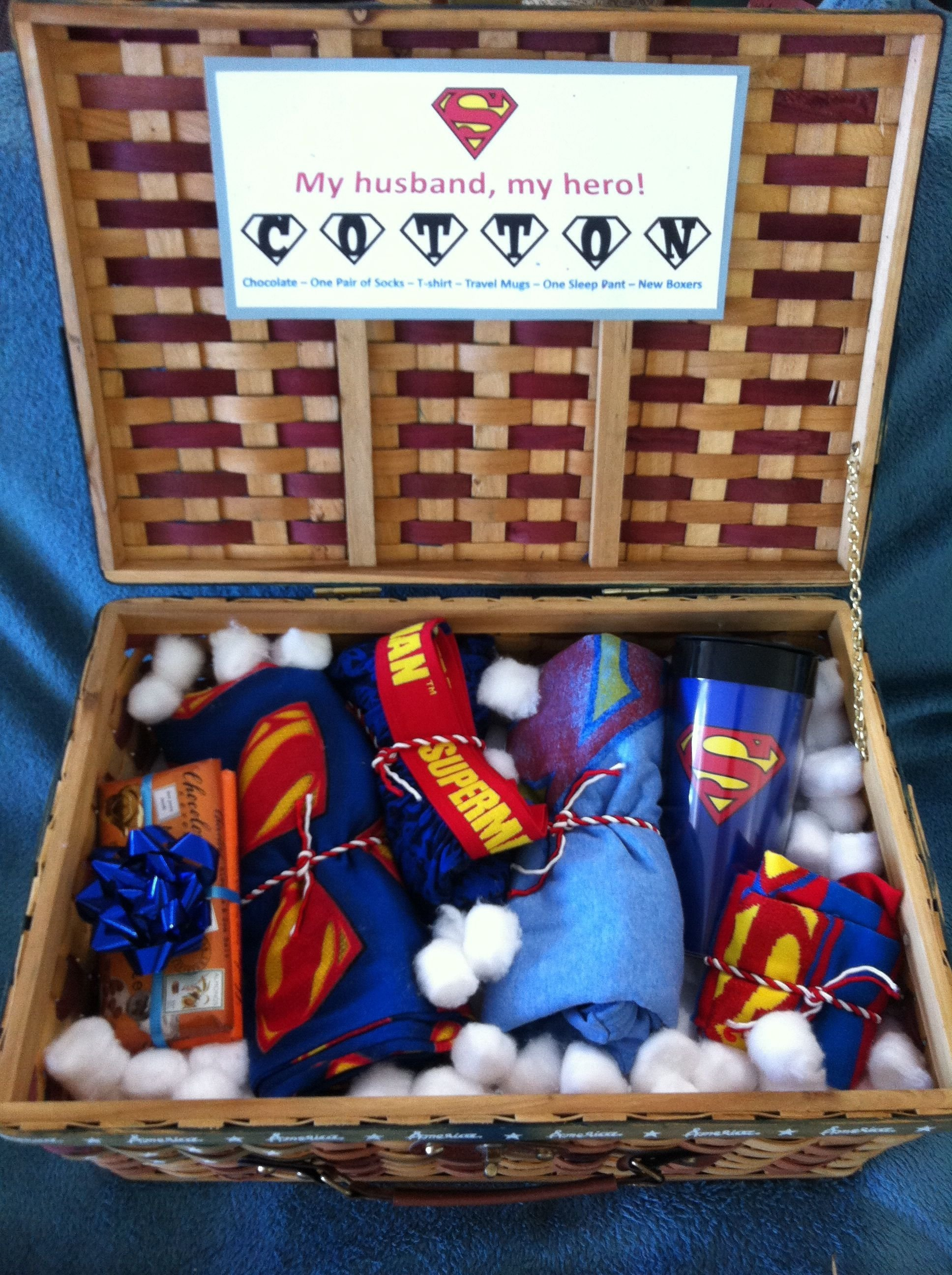 10 Elegant Cotton Anniversary Gift Ideas For Him 2nd anniversary cotton super husband basket anniversary gift 2020