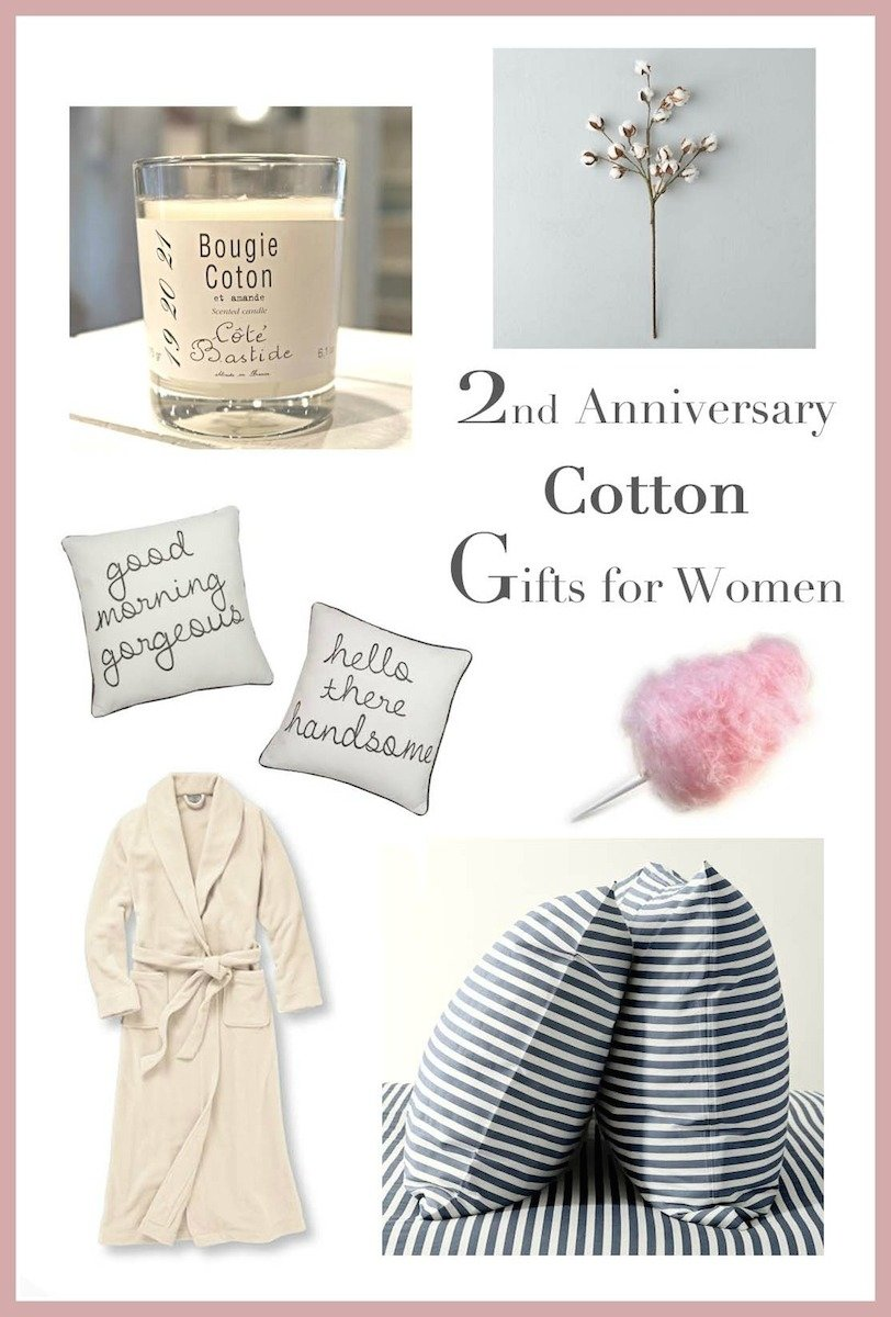 10 Elegant Cotton Anniversary Gift Ideas For Him 2nd anniversary gifts for her runway chef 11 2020