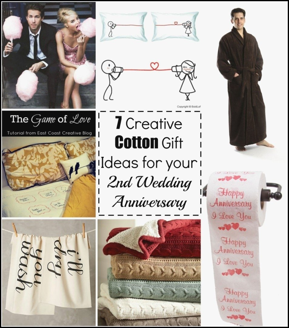 2nd wedding anniversary gifts for him cotton awesome coolest
