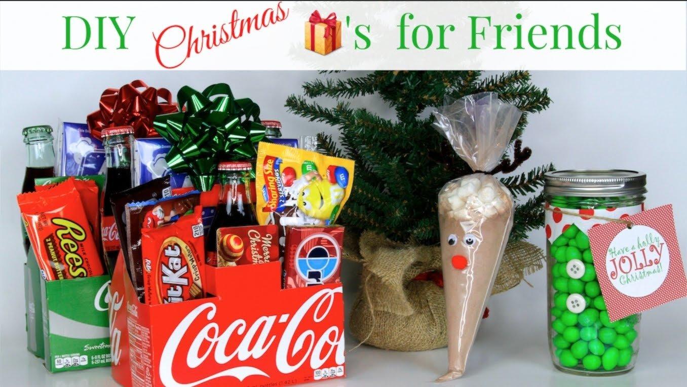 10 Pretty Cute Christmas Ideas For Friends 3 diy friend christmas gifts sharethegift nativity collab youtube 2021