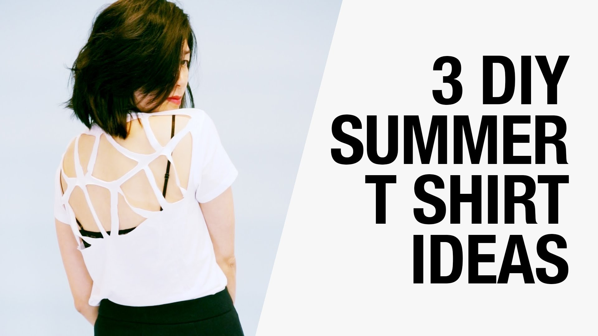10 Lovely Ideas For Cutting T Shirts 3 easy diy summer t shirt ideas cutouts racerback butterfly 1 2020
