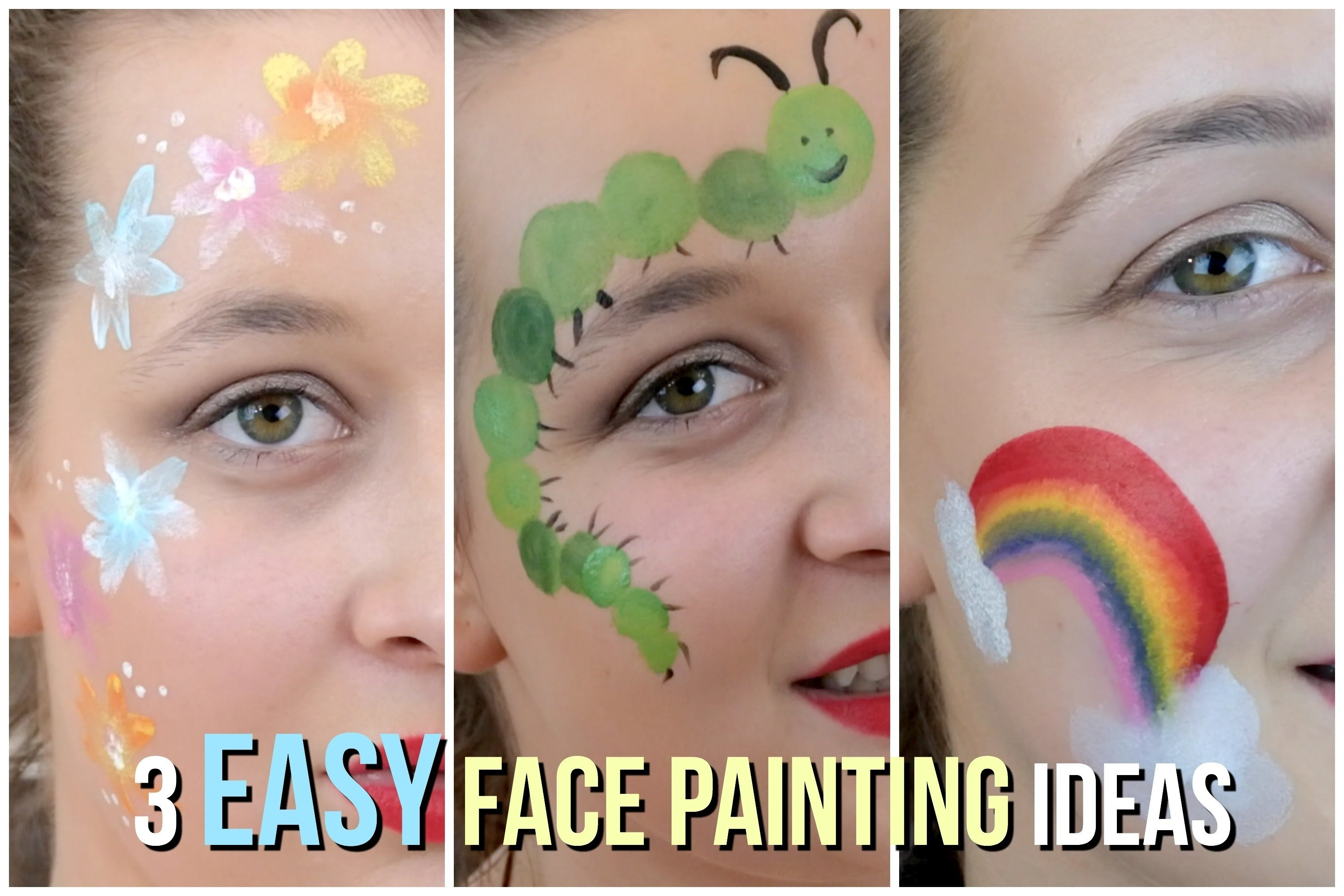 10 Famous Face Painting Ideas Step By Step 3 easy face painting ideas that your kids will love youtube 5 2020