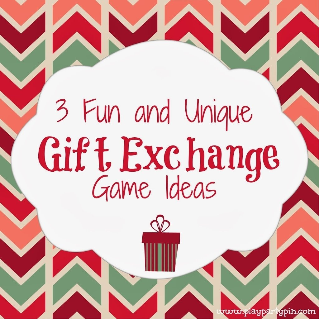 3 fun and unique gift exchange ideas - play.party.pin | holiday