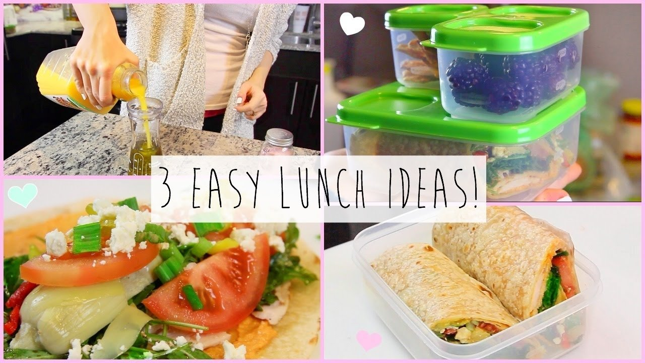 10 Famous Great Lunch Ideas For Work 3 healthy easy lunch ideas for work school youtube 5 2020