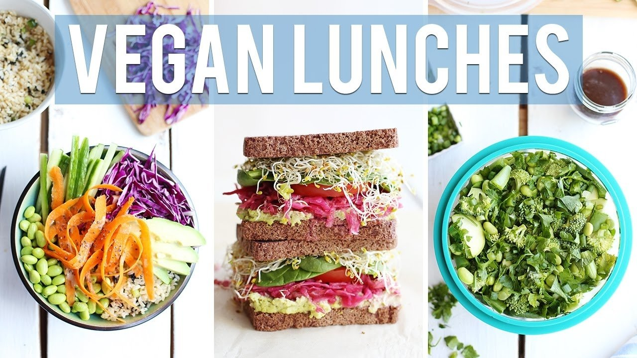 3 healthy + vegan lunch ideas | for work & school - youtube