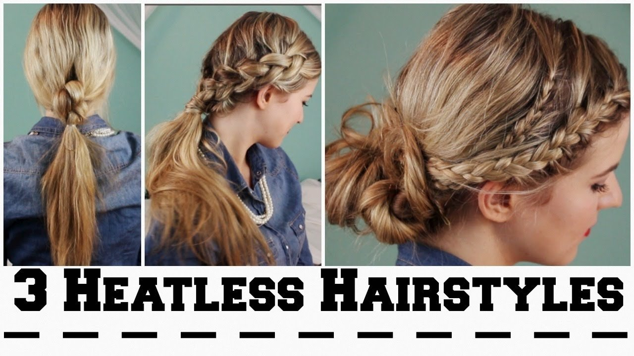 10 Unique First Day Of School Hair Ideas 3 heatless hairstyles for back to school youtube 2020