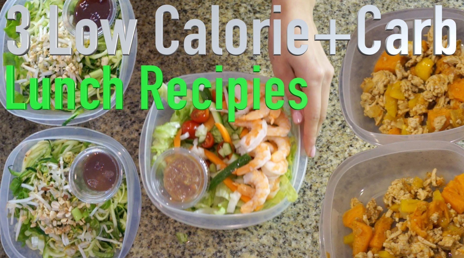 10 Great Low Fat Lunch Ideas For Work 3 low calorie and low carb lunch recipes youtube 2020
