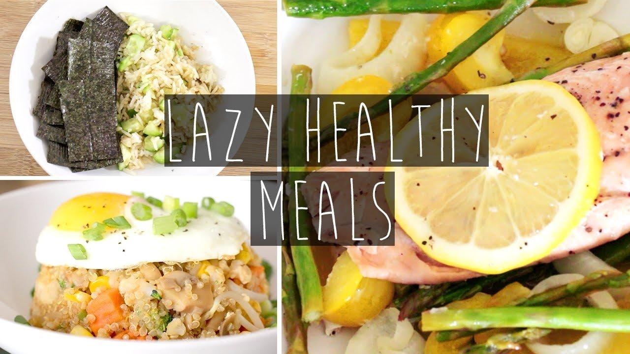 3 quick & easy healthy dinner ideas for lazy people + recipes | eva