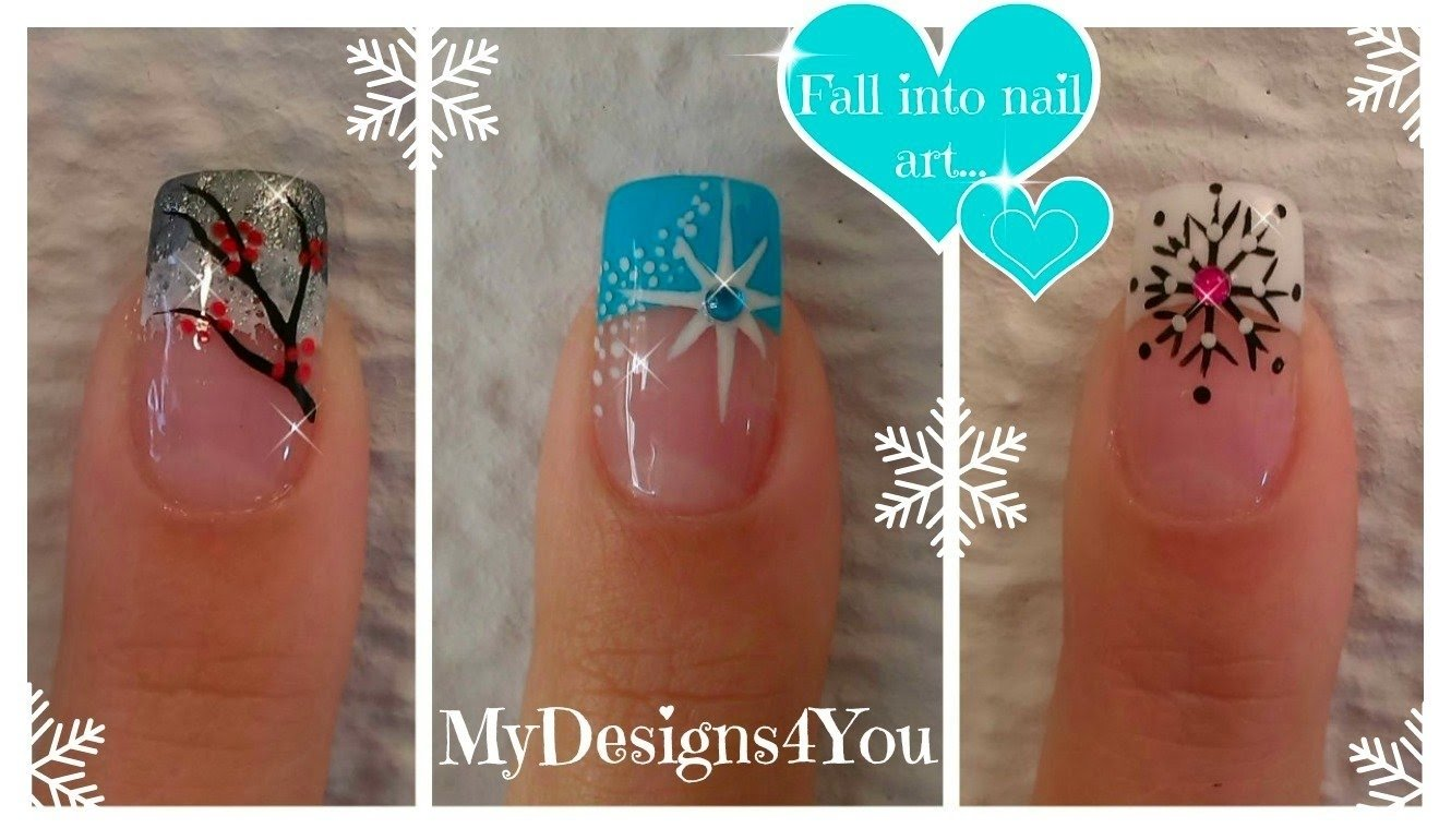 10 Awesome French Tip Nail Design Ideas 3 winter french tip nail designs winter nail art ideas e299a5 3
