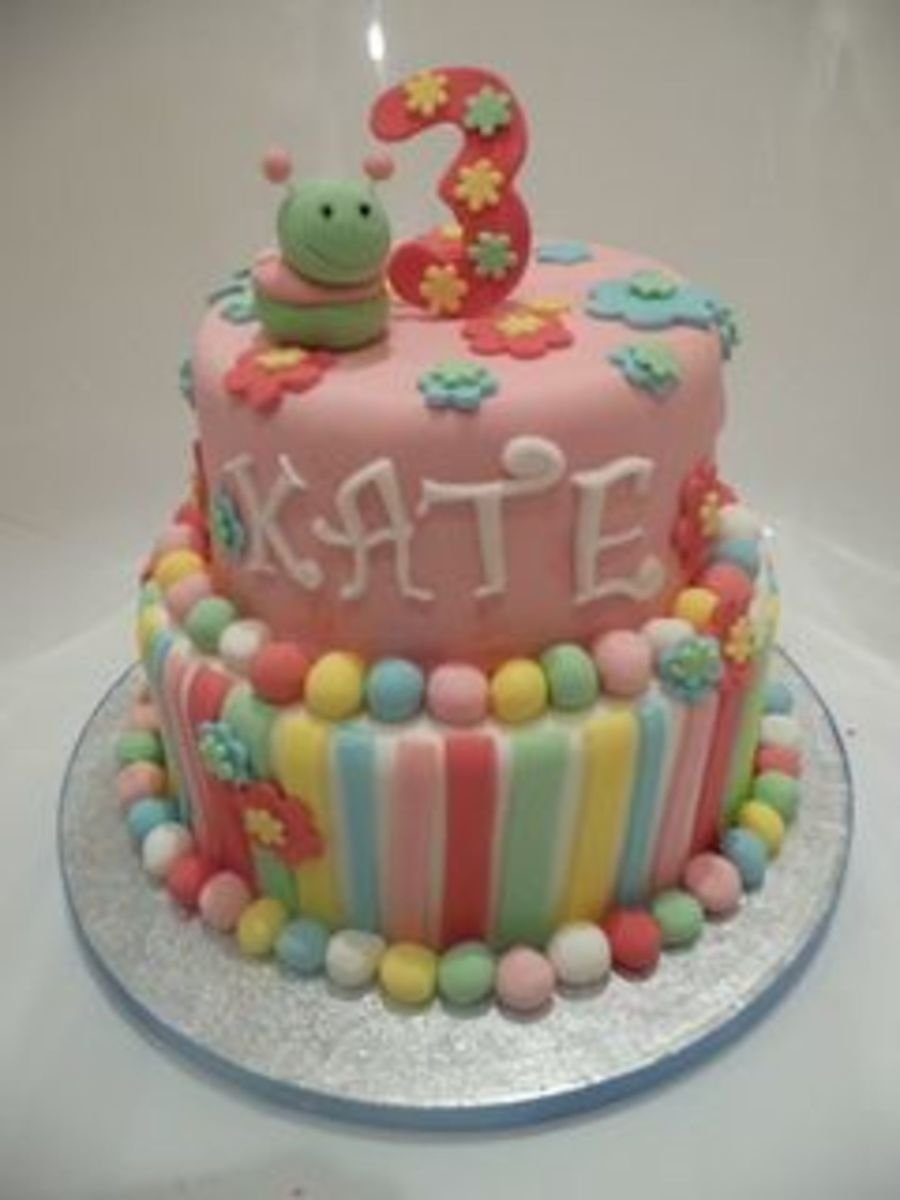 10 Fantastic 3 Year Old Birthday Cake Ideas 3 year old girls birthday cake cakecentral