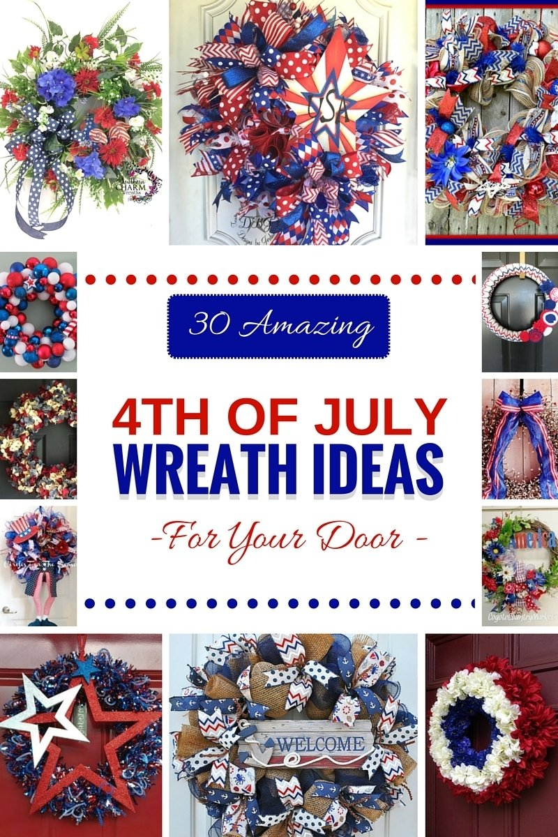 30 amazing 4th of july wreath ideas for your door