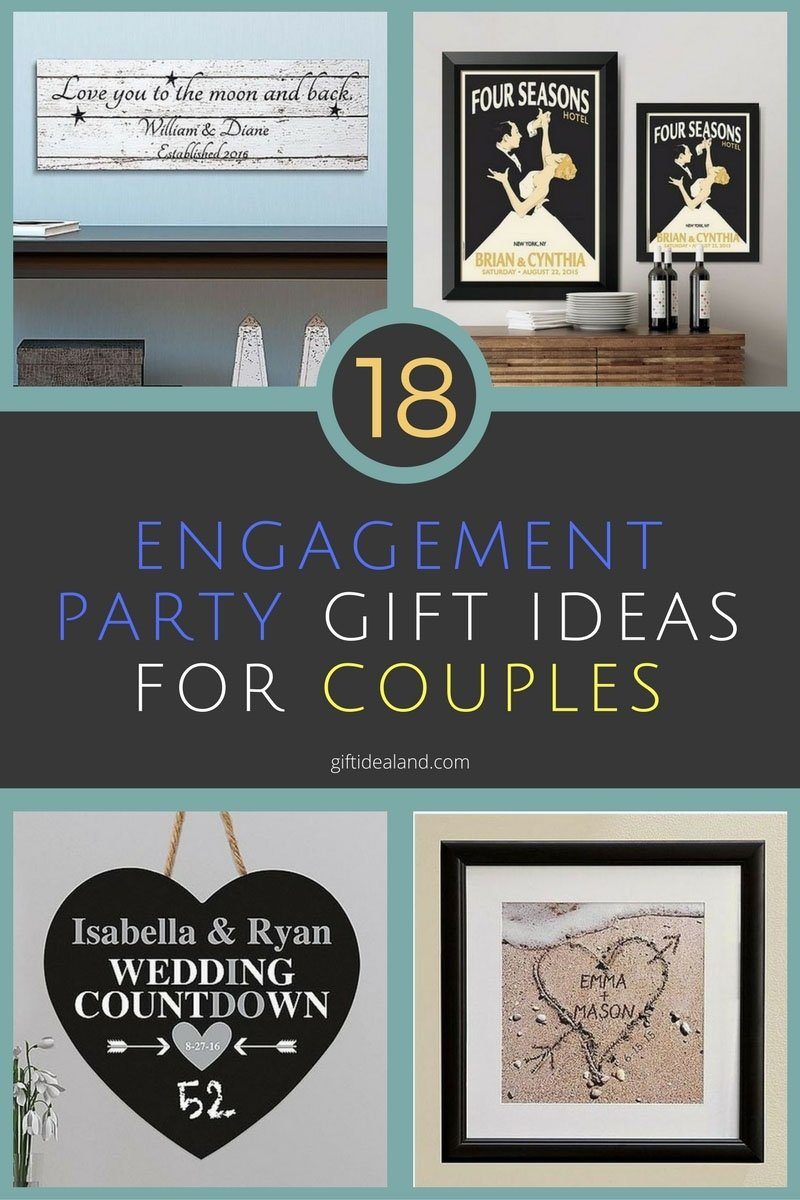 10 Stylish Engagement Gift Ideas For Couples 30 amazing engagement party gift ideas they will love 3 2020