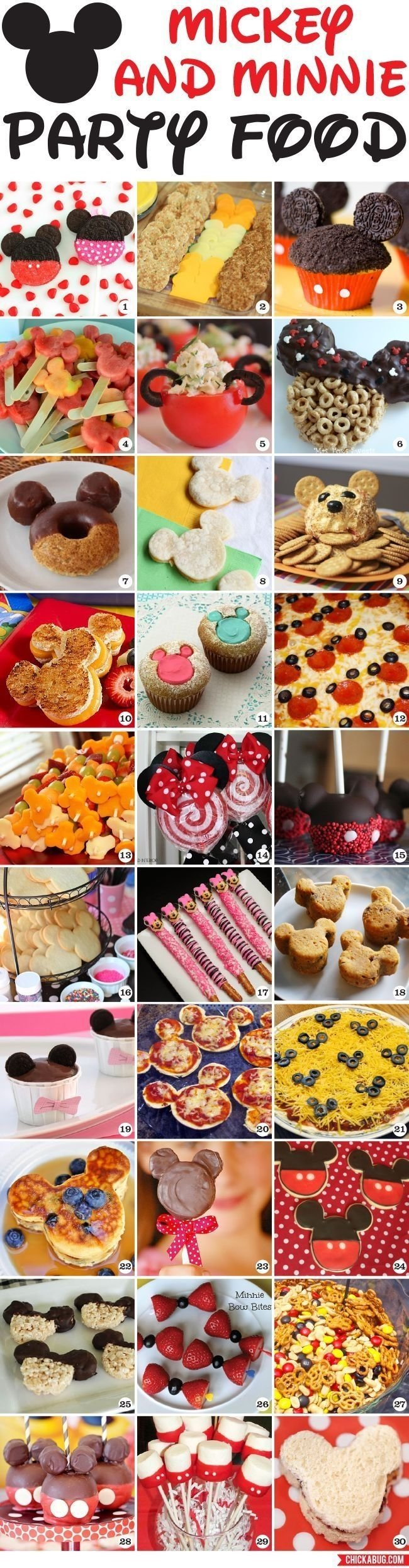 10 Awesome Mickey Mouse Party Food Ideas 30 awesome mickey mouse and minnie mouse party food ideas