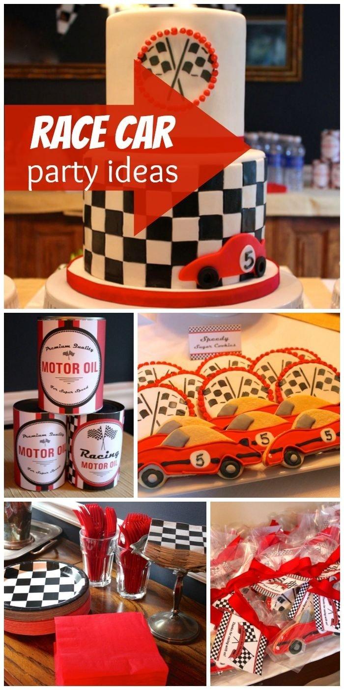 10 Stunning Race Car Birthday Party Ideas 30 best jamess race car 5th birthday party images on pinterest 2020