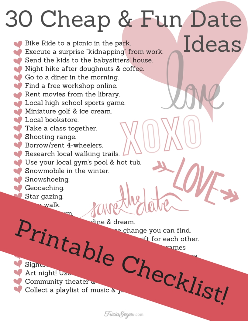 30 cheap & fun date ideas | check and relationships