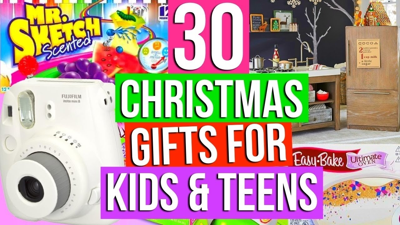10 Attractive Christmas Gift Ideas For Kids Who Have Everything 30 christmas gift ideas for kids teens youtube 4 2020