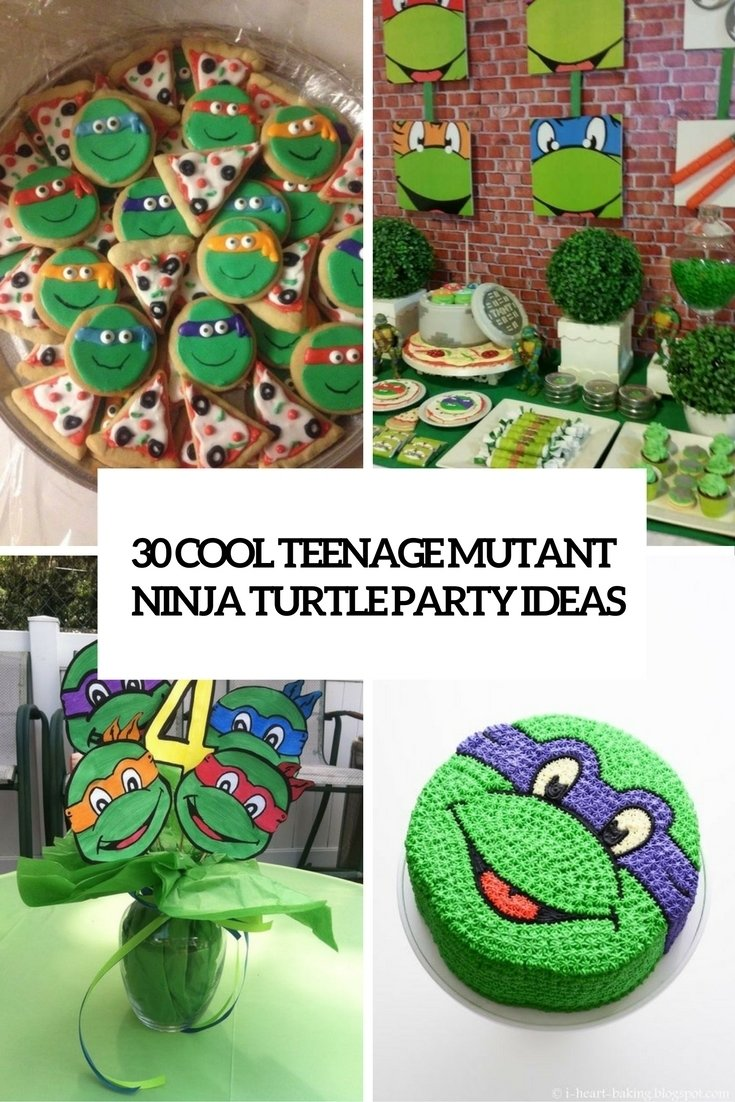 30 cool teenage mutant ninja turtles party ideas - shelterness