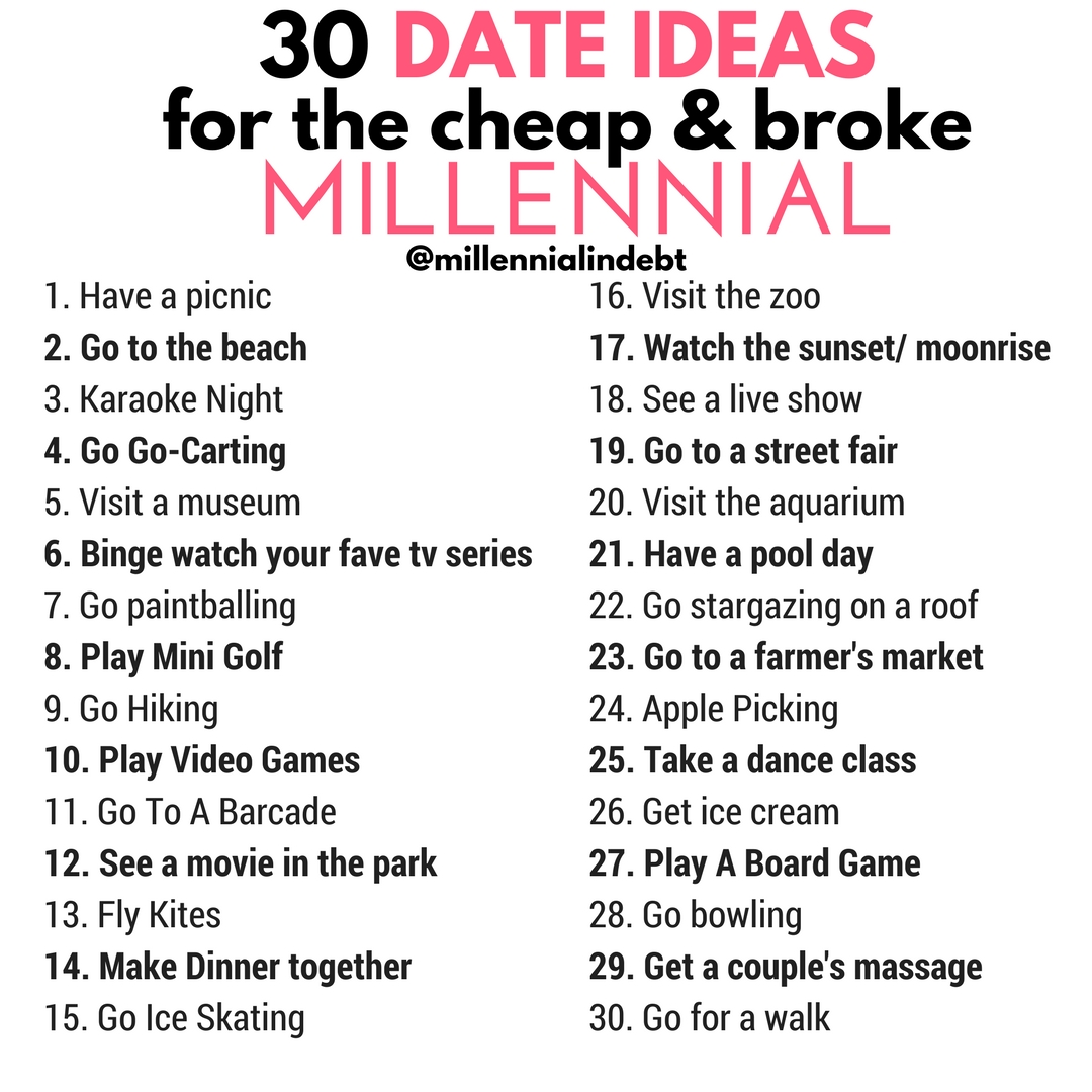10 Lovable Date Ideas For New Couples 30 date ideas for the cheap broke millennial trials n tresses 2020