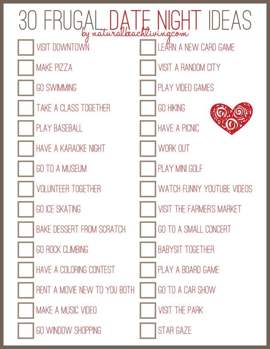 10 Awesome Fun Friday Night Date Ideas 30 date night ideas married couples love crafts 3 2020