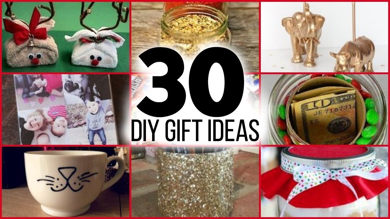 10 Stylish Gift Ideas For Family Friends 30 diy christmas gifts for guys girls parents friends and family 1 2020