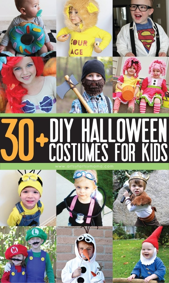 10 Fashionable Cheap Halloween Costume Ideas For Kids 30 diy kids halloween costumes artsy fartsy mama 2020