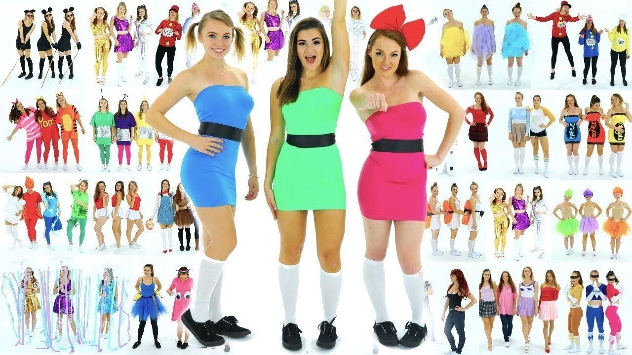 10 Stunning Ideas For Group Halloween Costumes 30 diy last minute group halloween costume ideas youtube 2 2020