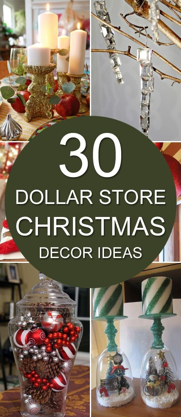 10 Unique Holiday Decorating Ideas On A Budget 30 dollar store christmas decor ideas dollar stores decoration 1 2020