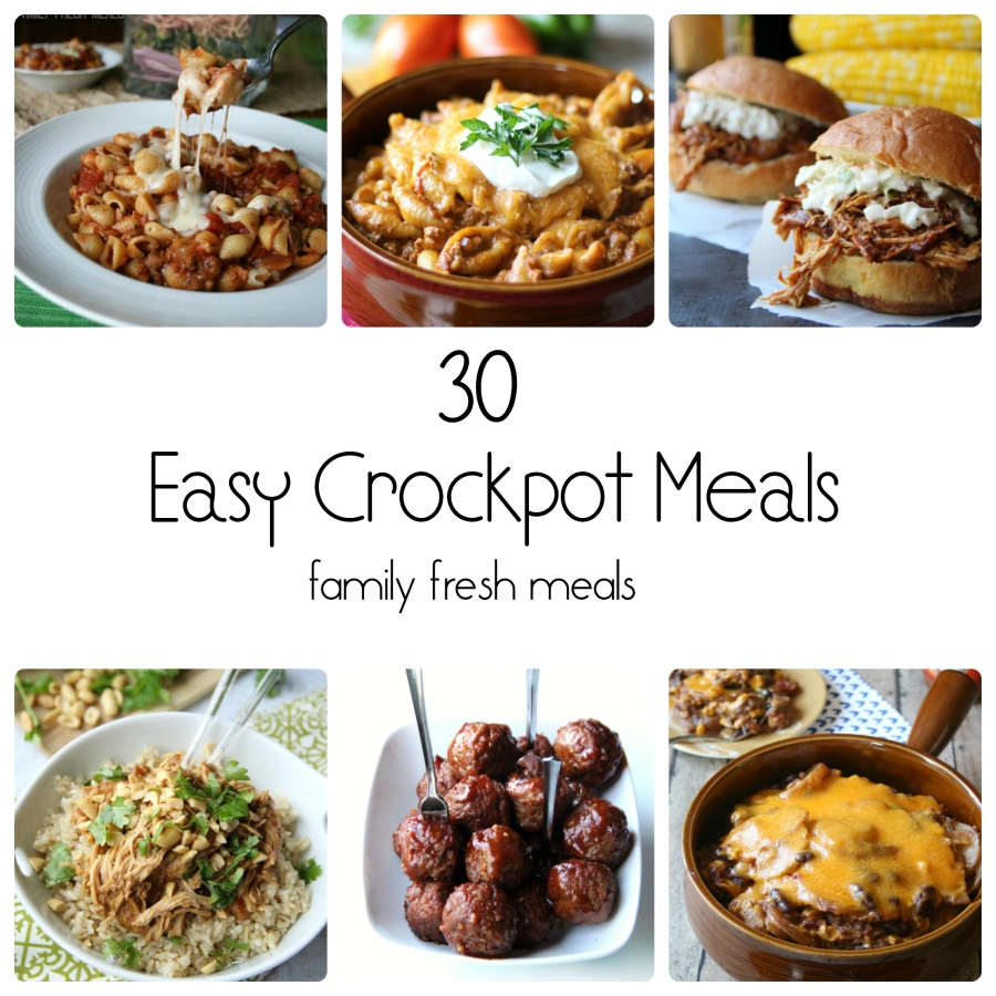 10 Fashionable Dinner Ideas For Large Family 30 easy crockpot recipes family fresh meals 2 2020