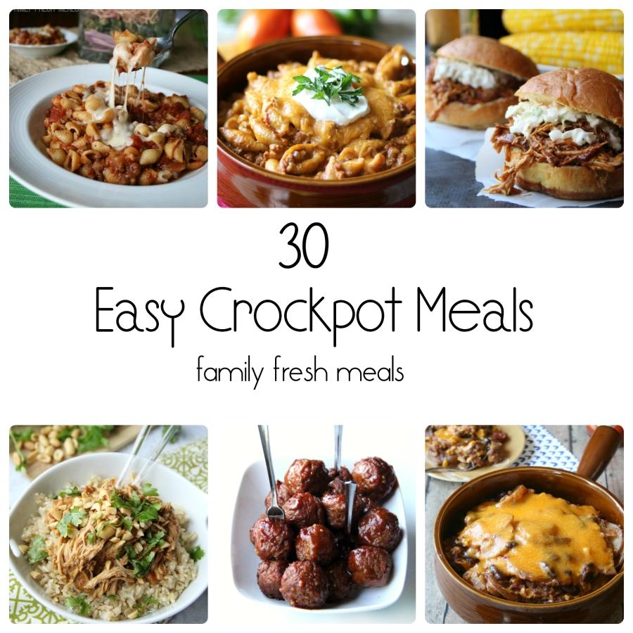 10 Nice Dinner Ideas For Big Family 30 easy crockpot recipes family fresh meals 2020