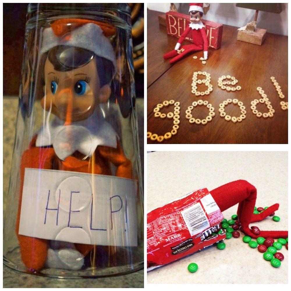 30 easy elf ideas: easy elf on the shelf ideas for busy parents