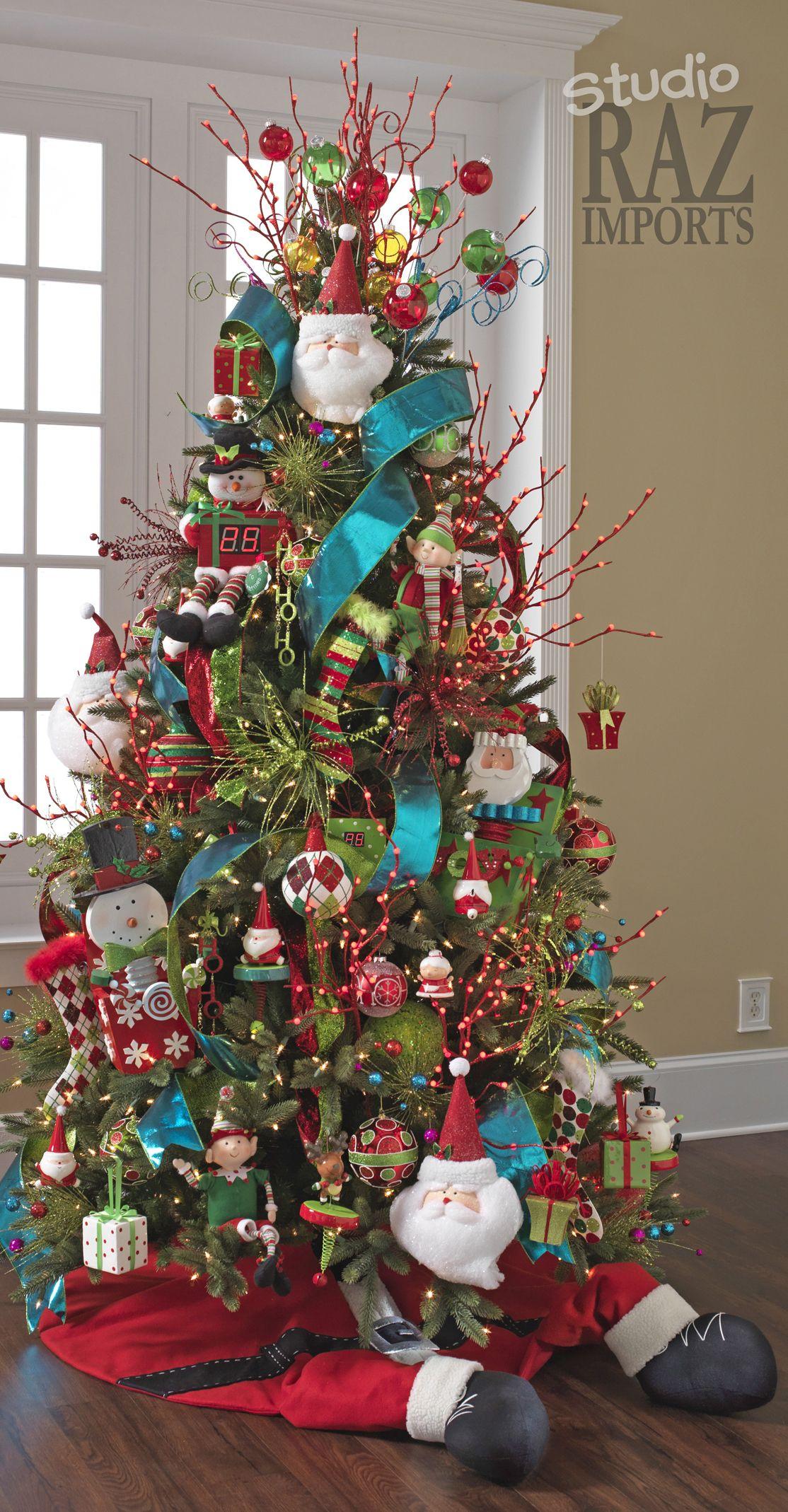 10 Elegant Christmas Tree Decorating Ideas With Multi Colored Lights 30 festive christmas tree decoration ideas christmas colorful 2021