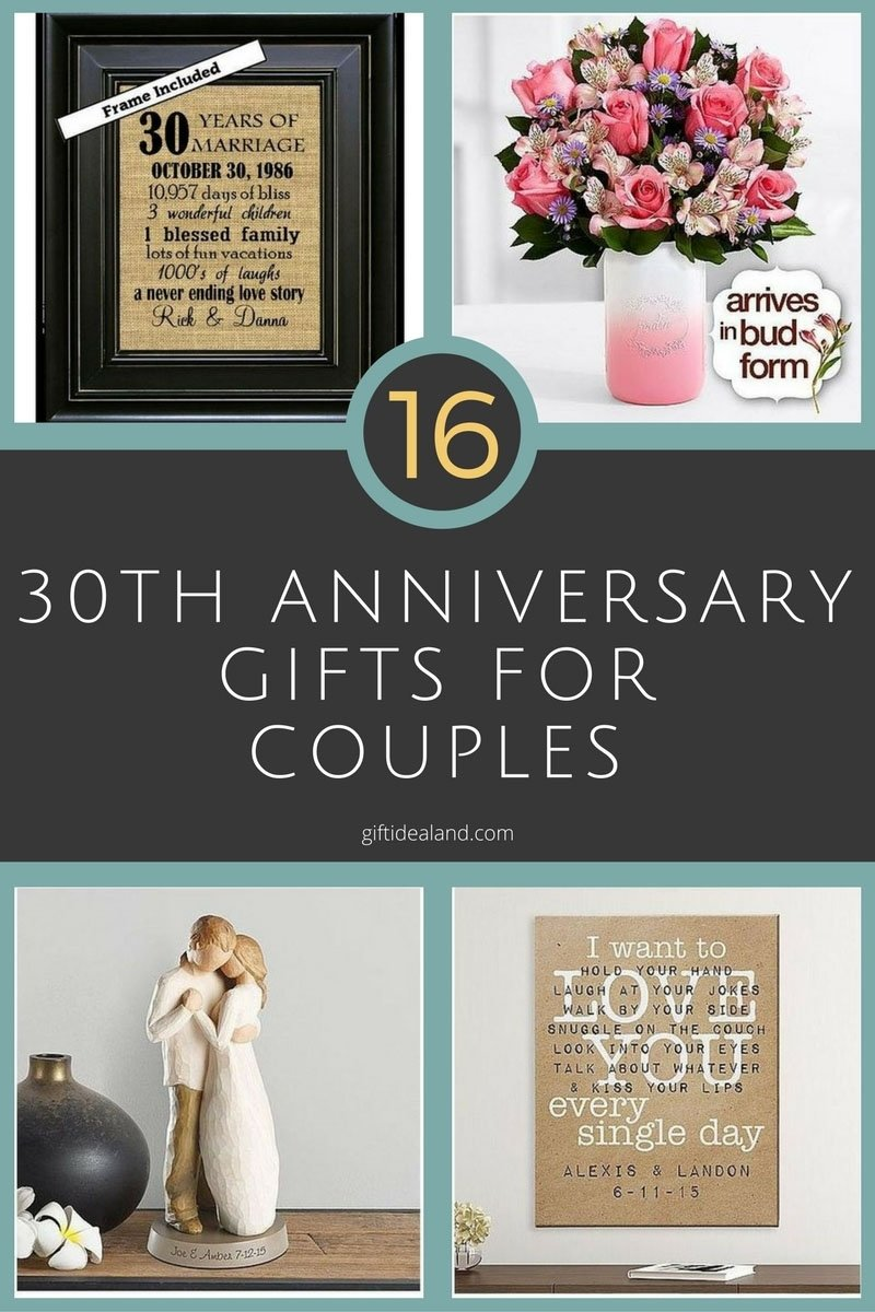 10 Nice 30Th Anniversary Gift Ideas For Parents 30 good 30th wedding anniversary gift ideas for him 1