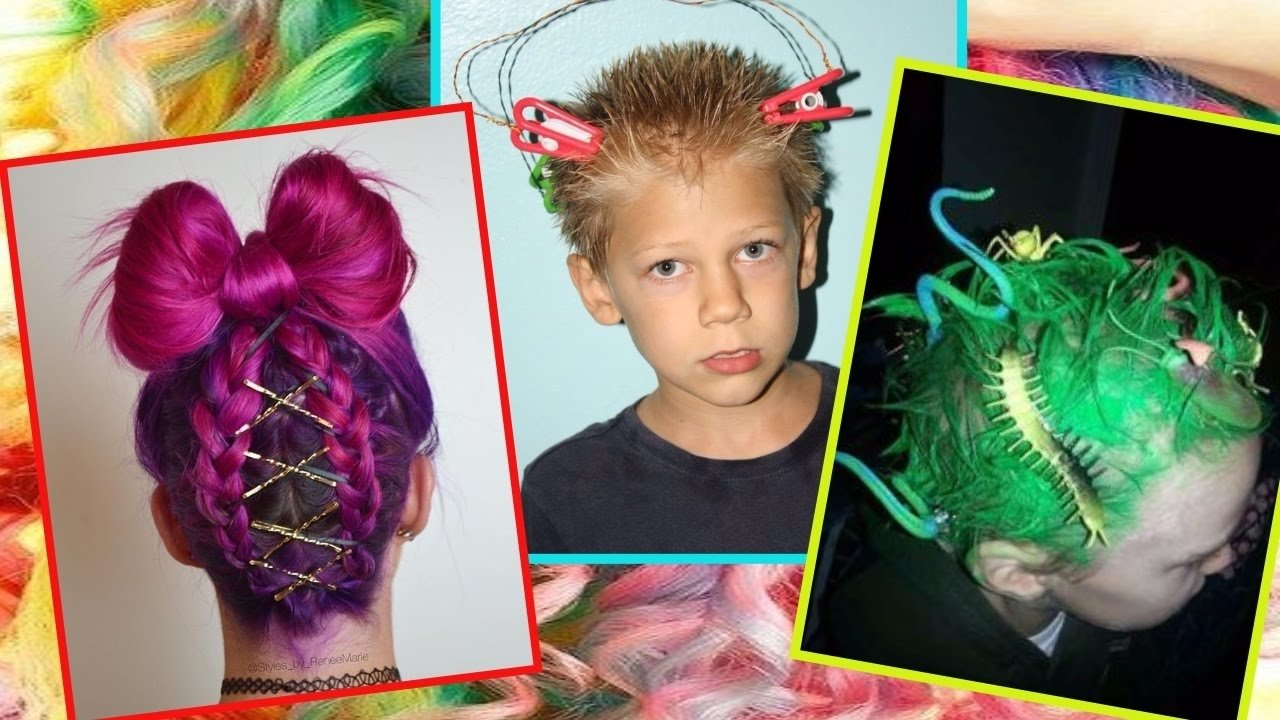 10 Famous Wacky Hair Day Ideas For School 30 ideas for crazy hair day at school for girls and boys youtube 1