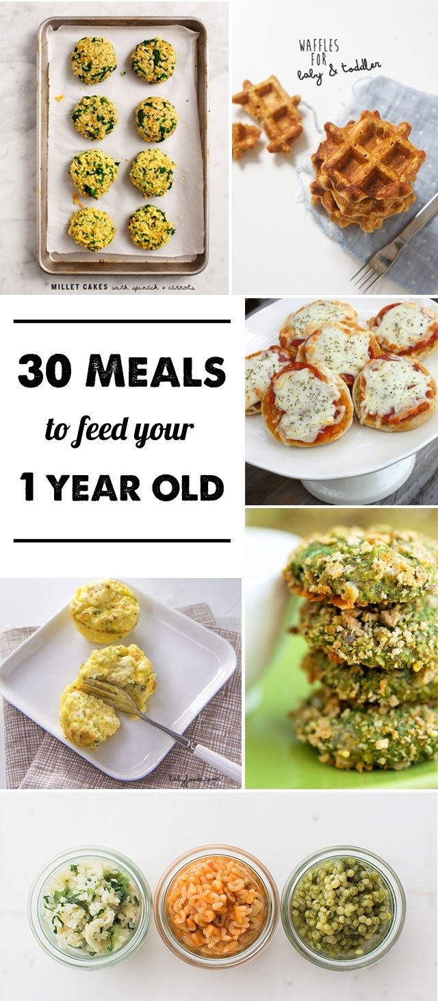 30 meal ideas for a 1-year-old - modern parents messy kids